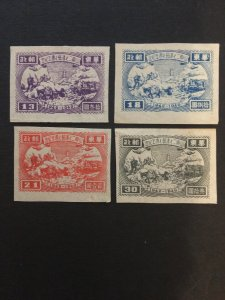 china liberated area memorial stamp set, shandong provincd,  unused, list#182