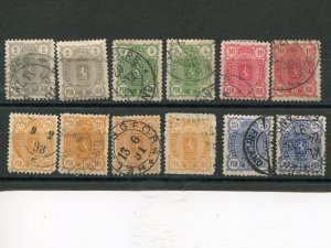 Finland lot of earlies  shades, perfs  F-VF  - Lakeshore Philatelics