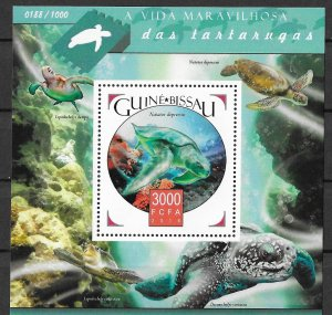 Guinea-Bissau MNH S/S World Of Turtles 2015