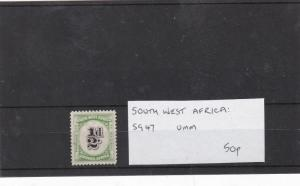 south  west africa postage due mnh stamp  Ref 9280