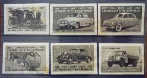 Match Box Labels! automobile car motorcycle vehicle czechoslovakia van GJ3