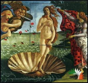 Paraguay C628 sheet,MNH.Michel Bl.423. The Birth of Venus,by Botticelli,1985.