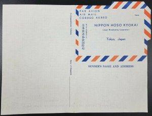 Unused Japan Broadcasting Corporation Pre-Printed Air Letter, Nippon Hoso Kyokai