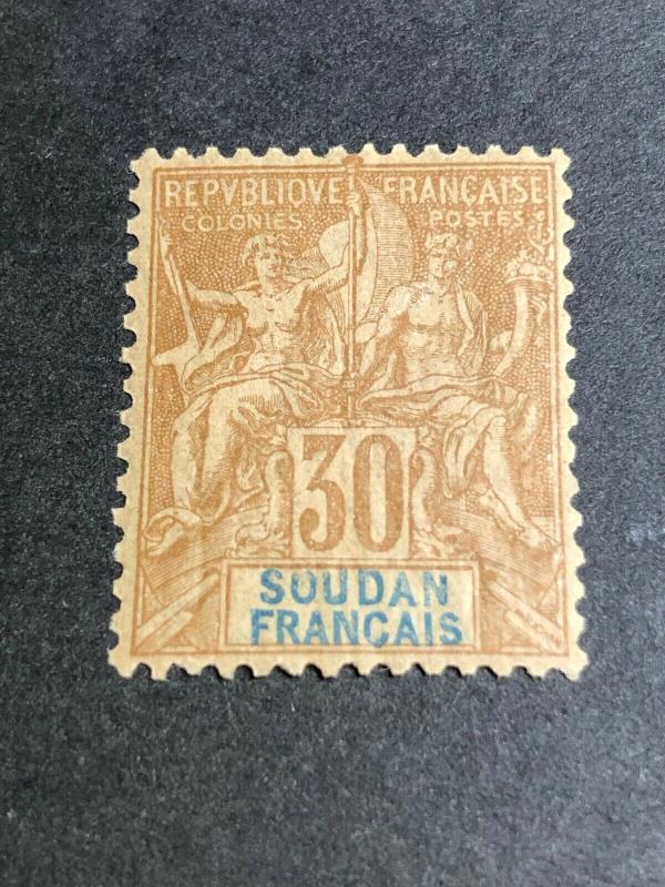 French Sudan Scott 14 Mint OG CV $40