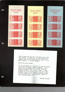 NEW BRUNSWICK 7 DIFFERENT 1 WITH ERROR MNH TOBACCO TAX COMPLETE PANES 1940-1941