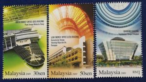 Malaysia Scott # 1269-71 Energy Efficient Buildings Stamps Set MNH