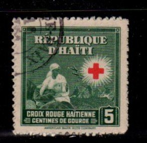 Haiti - #362 Red Cross - Used