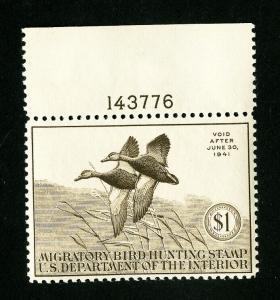US Stamps # RW7 Supurb Fresh Gem Includes Plate Number OG NH