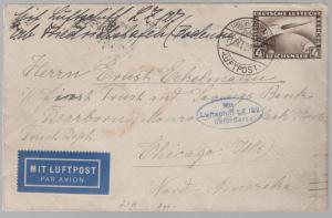 1928 Germany Graf Zeppelin LZ 127 Cover to Chicago USA # C37