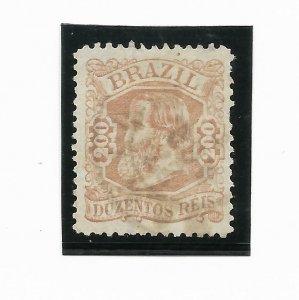 BRAZIL YEAR 1882 Emperor Dom Pedro 200R rose  Scott 84 USED VF