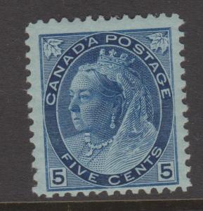 Canada 1898 QV 5c Blue Sc#79 Fine MH