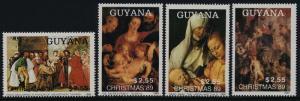 Guyana 2236-9 MNH Christmas, Art, Madonna, Sacred Family