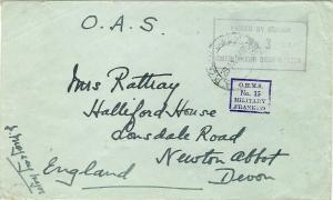 South Africa 1940 OHMS MILITARY FRANKED APO Cover PASSED BY CENSOR UDF APS EAA