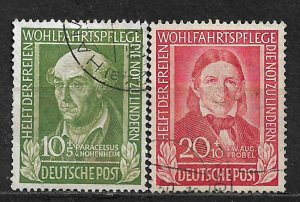 COLLECTION LOT OF # B311-2 GERMANY  1949 STAMPS CV = $23