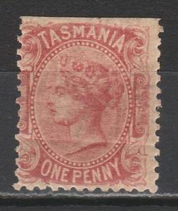 TASMANIA 1870 QV 1D WMK 10 PERF 12
