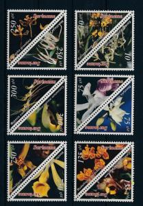 [SU866] Suriname Surinam 1996 Flora Flowers Orchids Triangles Six Pairs MNH