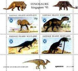 Easdale 1995 'Singapore 95' Stamp Exhibition (Dinosaurs #...