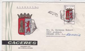 Spain Madrid to Ansbach Cover VGC