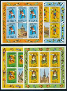 Ghana - Montreal Olympic Games MNH 4X Sheets Set (1976)