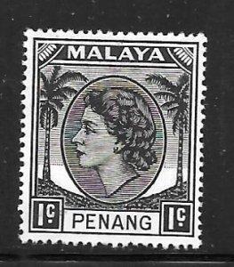 Malaya Penang 29: 1c Elizabeth II, MH, F-VF