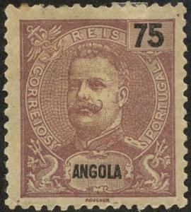 Angola, Scott #50, Unused, Hinged