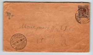 Gold Coast 1925 Cover to Chicago / Small Bottom Tear - Z12811