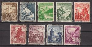 GERMANY, REICH SEMIPOSTALS 1938 VFU SET
