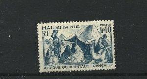 MAURITANIA  1938 - 40  1F 40  BLUE       MH