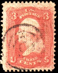 United States Scott 88 Used with crease.