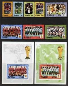 Tuvalu 364-73 MNH Sports, World Cup Soccer, Football