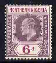 Northern Nigeria 1910-11 KE7 MCA 6d dull & bright pur...