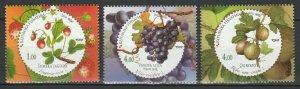 Croatia 2010 Fruits Grapes 3 MNH stamps