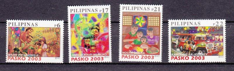 J27808 2003 philippines set mnh, #2869-72 christmas