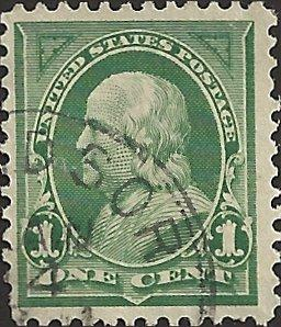 # 279 DEEP GREEN USED BEN FRANKLIN