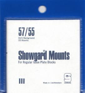 SHOWGARD BLACK MOUNTS 57/55 (25) RETAIL PRICE $8.35