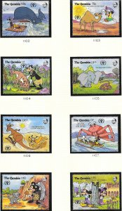 Gambia #1102-1109  International Literacy Year  (MNH) CV19.60
