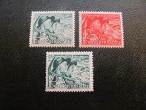GERMANY 1938 MNH  SC# B132-133+Y GUM SUDETEN SET  $56 (113)