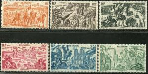 REUNION Sc#C26-C31 1946 Chad to Rhine Complete Set OG Mint Hinged