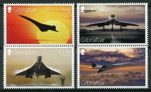 Gibraltar Aviation Stamps 2019 MNH Concorde 50th Anniv Aircraft 4v Set