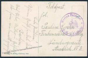 Germany WWI Marineschiffspost MSP83 SMS Kaiserin Feldpost Cover 48012