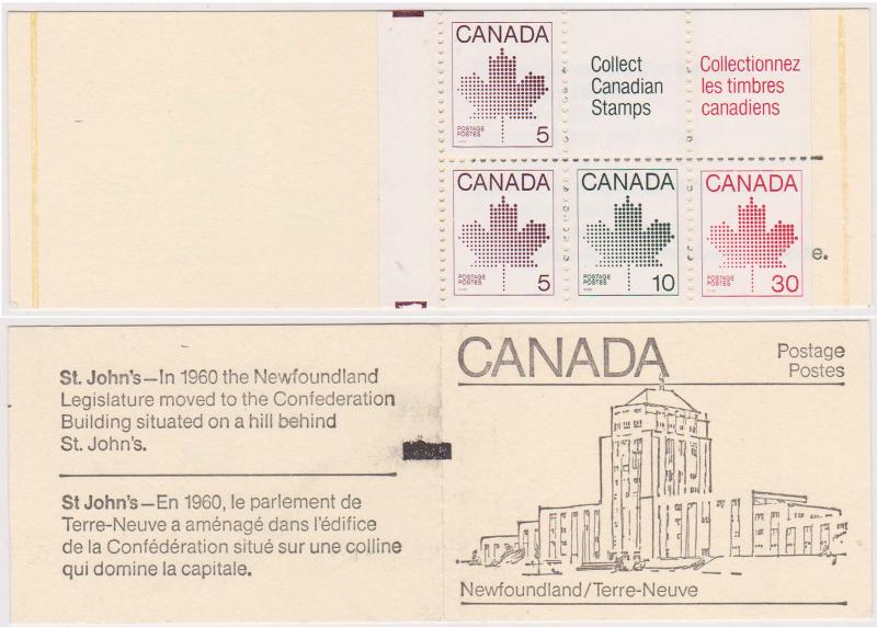 Canada - 1982 Maple Leaf Issue Coated Paper Counter Booklet