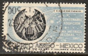 MEXICO C241, 50c Centenary of Metric System. Used. F-VF. (1113)