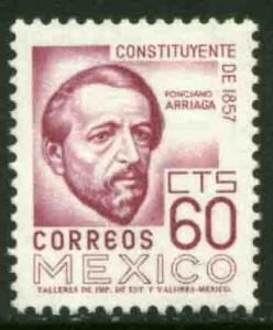 MEXICO 899 60cts 1950 Def 8th Issue Fosforescent glazed MH
