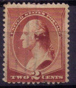 US Sc 210 Used - 2c RED BROWN LIGHTLY CANCELLED F-VF