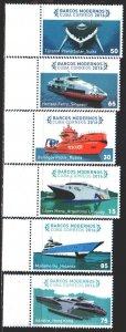 Cuba. 2016. 6021-26. Ships. MNH.