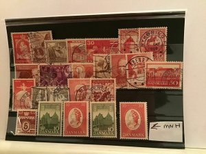 Denmark mint never hinged and used stamps R21570