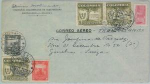 81575 - COLOMBIA - Postal History - Airmail COVER to SWITZERLAND  1950