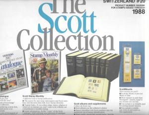Scott Switzerland #20 Supplement 1988