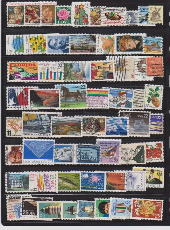 LOT OF DIFFERENT STAMPS OF USA USED (60) LOT#US276