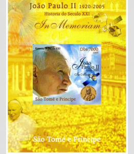 SAO TOME & PRINCIPE 2005 SPACE Pope John Paul II DeLuxe s/s Mint (NH) #3